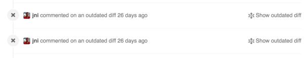 GitHub's hidden PR comments